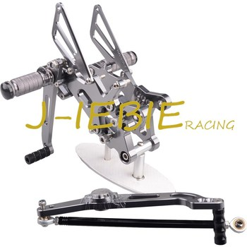 CNC Racing Rearset Adjustable Rear Sets Foot pegs Fit For Yamaha YZF R6 2006 2007 2008 2009 2010 2011 2012 2013 2014 TITAINUM