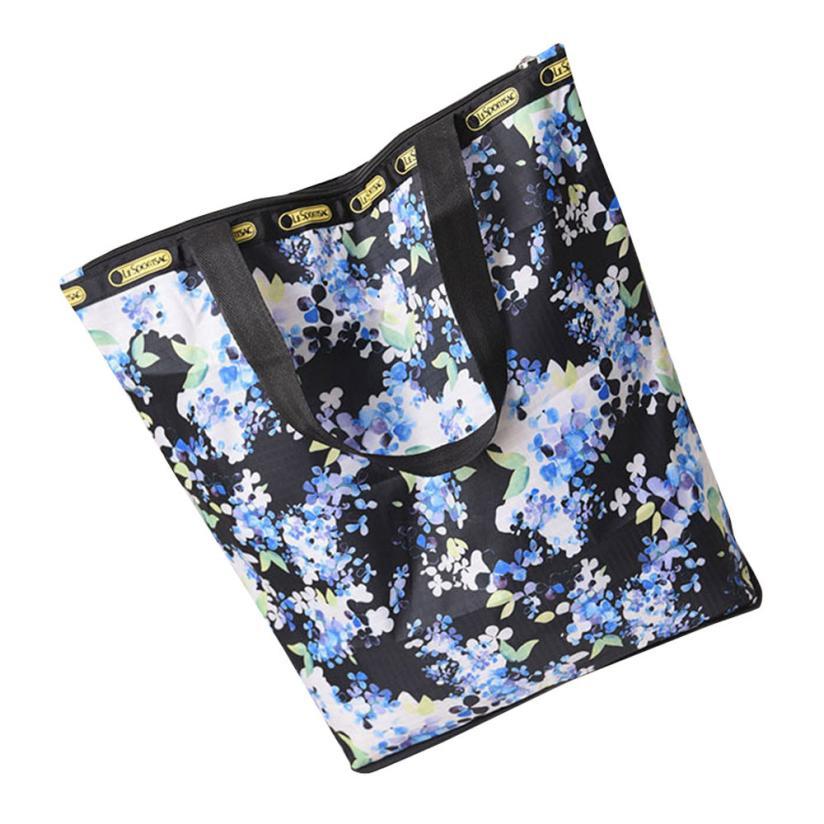 New Floral Printed Canvas Tote Shopping Bags Large Capacity Canvas Beach Bag Fashion Shoulder Bags Women Handbags 2018