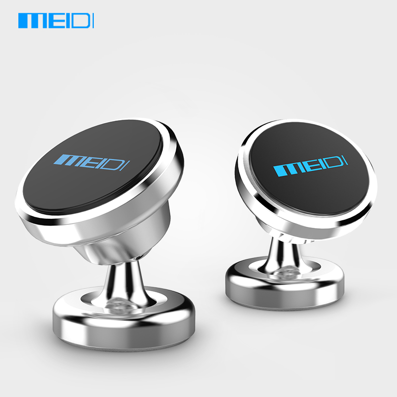MEIDI Universal Car Phone Stand 360 degree GPS Magnetic Phone Holder for iPhone 6 7 plus Samsung S6 7 Metal Magnet Bracket