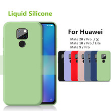For Huawei Mate 20 Pro case 10 20X luxury liquid silicone 360 Full protective cover 9 pro