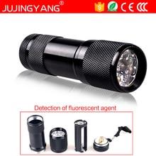 Purple light 3W Q3 led torch AAA UV flashlight for Fluorescent agent detection,explore Scorpion,Mask detection
