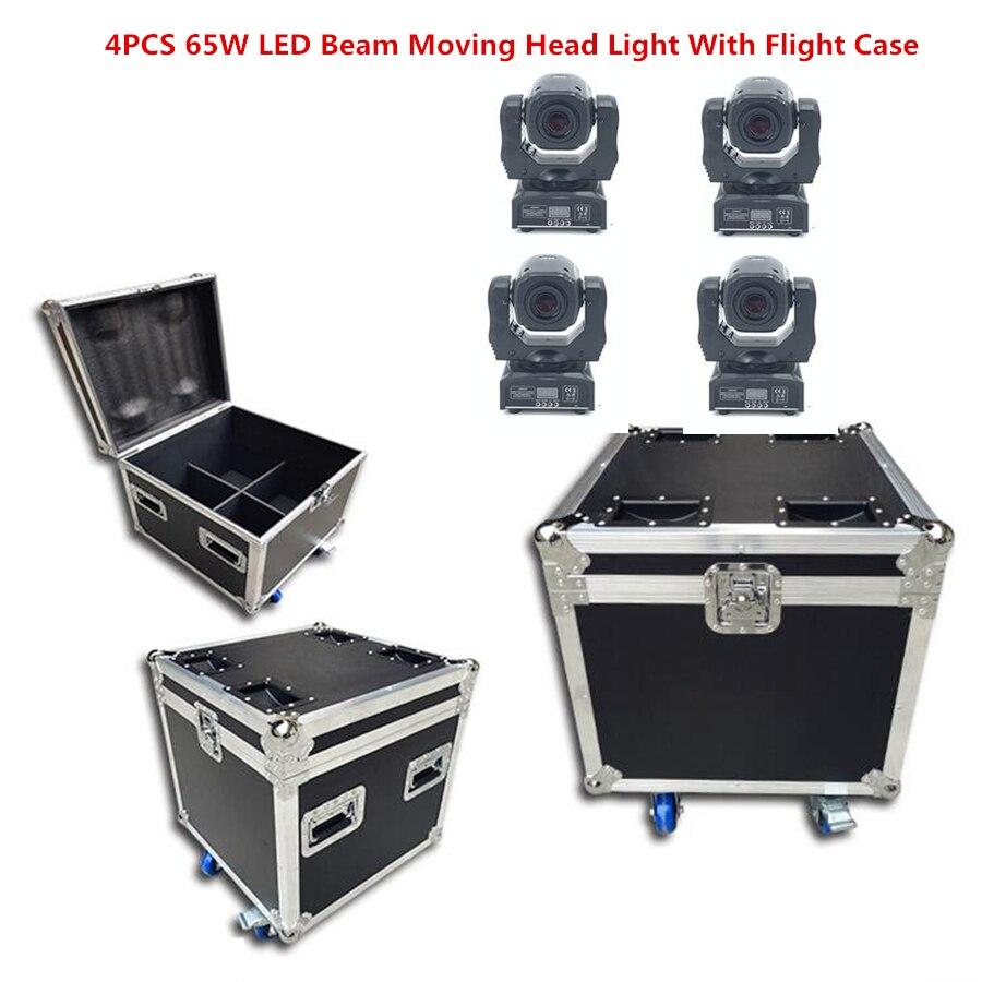 60W LED Beam Moving Head Light With Flight Case LED Spot Moving Head Light/USA Luminums 65W LED DJ Spot Light Dmx Beam Light