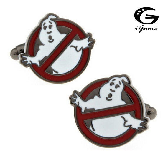 b4201d9fc0d IGame Ghostbusters Projeto Abotoaduras Dos Homens de Cor Vermelha Preço de Fábrica  Varejo Frete Grátis