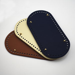"9.84X4.72"" Bag Bottoms Fashion DIY Handmade Colorful Oval Bag accessory for Black Brown Blue Gray handbag Crossbody Bags Bottom"