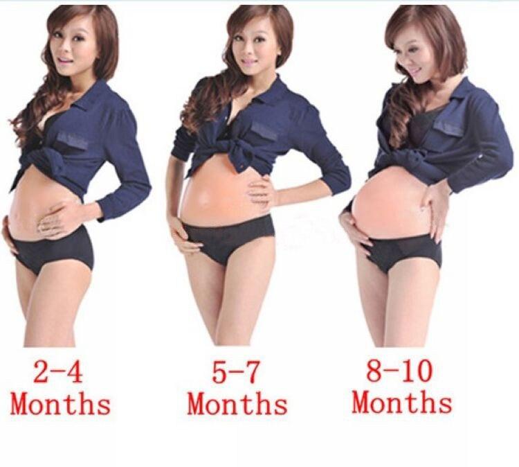 1 X Искусственный Поддельный силиконовый беременный живот ребенок Bump кукла беременность 2-4 месяца 5-7 месяцев 8-10 месяцев 3 типа