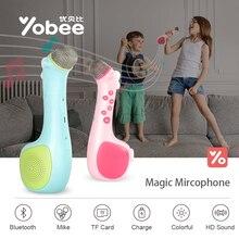 Yobee Магия дети микрофон с 8 г TF карты Беспроводной Bluetooth караоке разведки превратить игрушку для детей петь песни Игрушечные лошадки