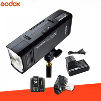 Godox AD200 TTL 2.4G HSS 1/8000s Pocket Flash Light Double Head 200Ws with 2900mAh Lithium Battery Strobe Flash for Nikon