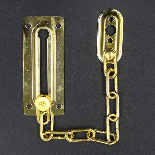 1pc Household Silver/Gold Stainless Steel Security Safety Slide Bolt ...