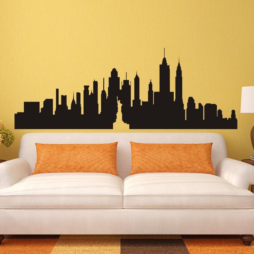 New York City Skyline Silhouette The Big Apple Wall Sticker NYC - Custom vinyl stickers nyc