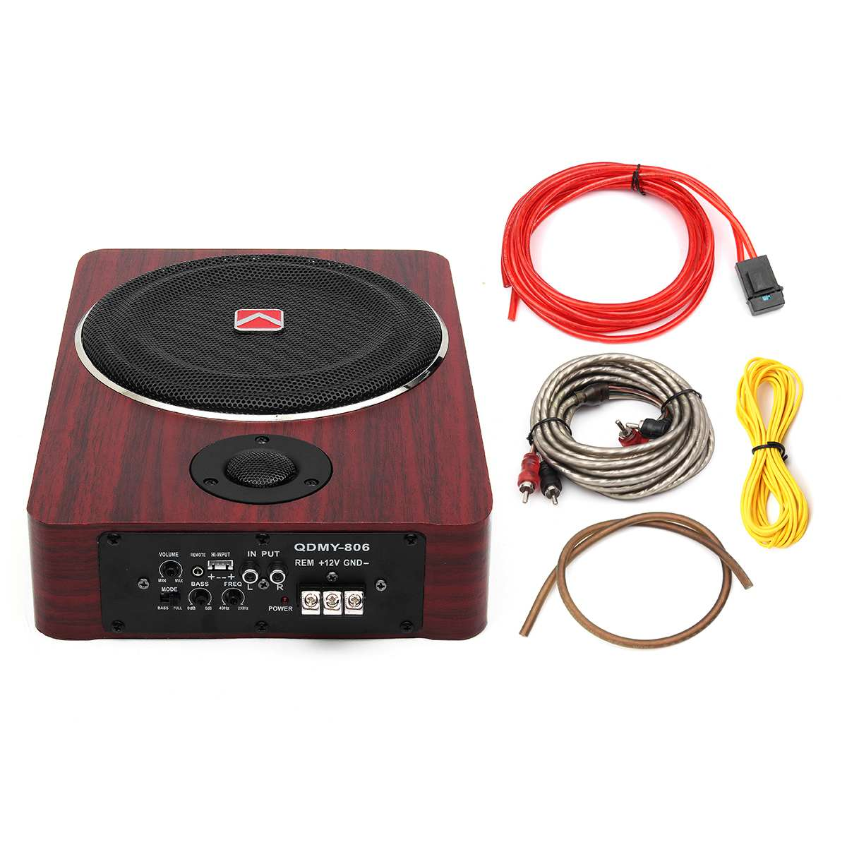 Speakers Subwoofer-Amplifier Audio Auto-Active-Power Brass 8inch Stereo 600W 12V