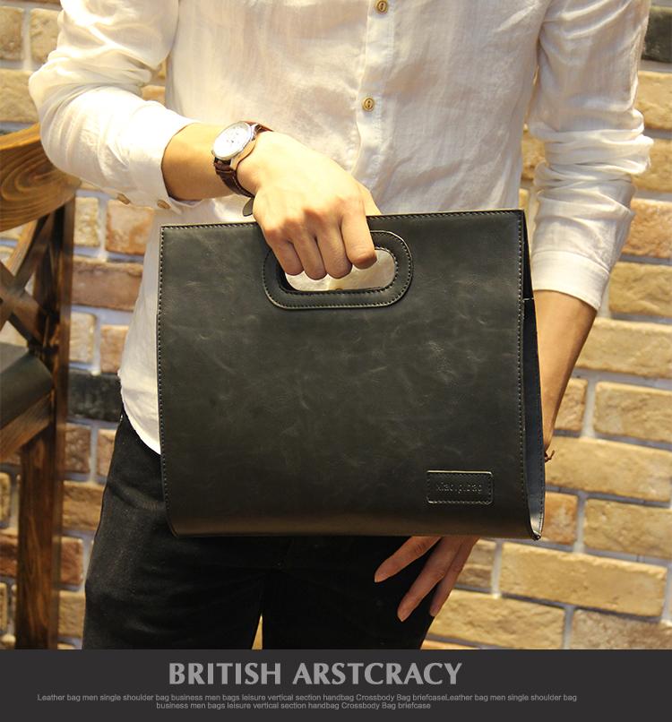 Business Casual Men Leather Designer Handbag High Quality Male Wallet Famous Brand Men's Large Capacity Clutch Bag Brown black 66