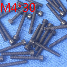 M4*30 Black 1pcs Nylon Inner Hexagon Socket Head Cap Screws 30mm Plastic Bolt Insolation brand new RoHS compliant PC/board DIY(China)