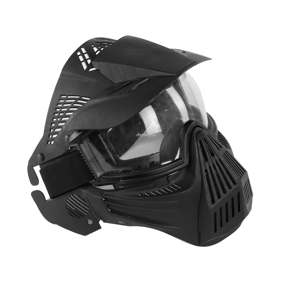 Tactical Outdoor Lens Mask Full Face Breathable CS Hunting Military Army Airsoft Protection Masks Paintball Accessories