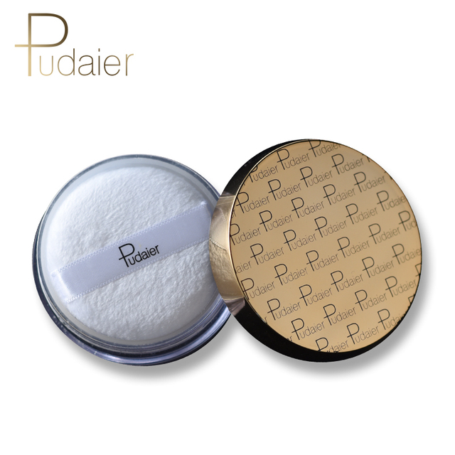 Pudaier Makeup Face Loose Powder For Women Dark Skin Long Lasting Whitening Bronzer Contour Nude Base Foundation Setting Powder 2