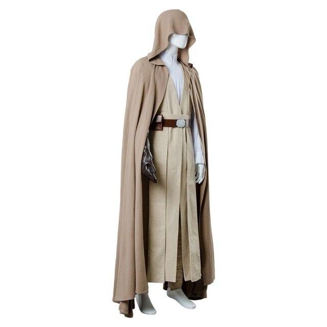 2018 Star Wars 8 The Last Jedi Luke Skywalker Cosplay Costume Robe Halloween Carnival Costume For Adult Men 4