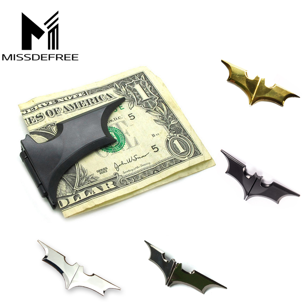 Black Batman Money Clip The Dark Knight Folding Batarang Magnetic Folding Metal Holder Unisex's Zinc Alloy Business Card Wallet