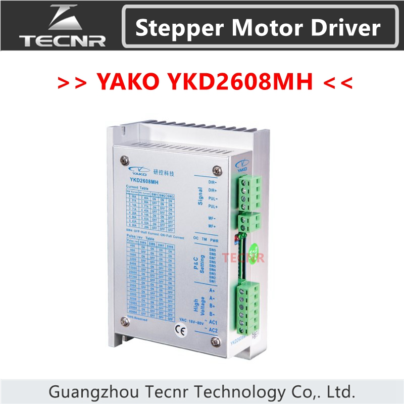 YAKO two phase stepper motor driver YKD2608MH match with 57 86 stepper motor replace old model YKC2608M-H japanese oriental motor om motor 4ik25gn sw2l replace the old model 4ik25gn sw2l