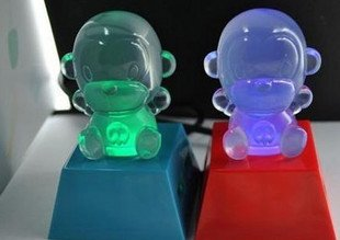 USB2.0 4-port crystal monkey usb hub/ usb splitter/ funny usb hub 25pcs/lot free shipping