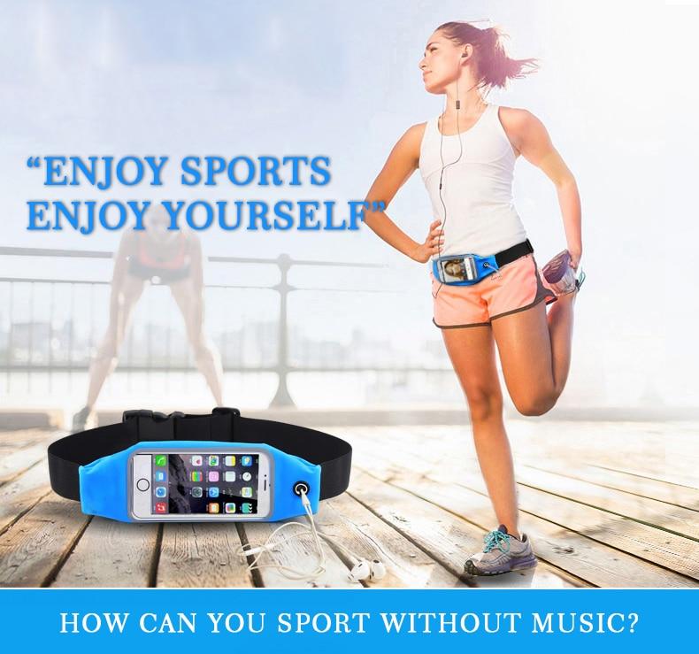 ROCKBROS Waterproof Running Bag Waist Bag Sport Belt Bags 5.8-6 Inch Phone Pouch Case Bags For IPhone 6 7 Plus Sport Accessories 7