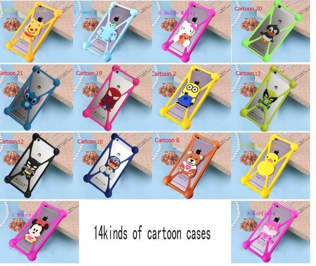 Cartoon Animals Soft Silicone  case  for philips xenium v377 s337 s307 v526 s396 s309 s316 w3500 w6610 s398 v387 i908 CASE