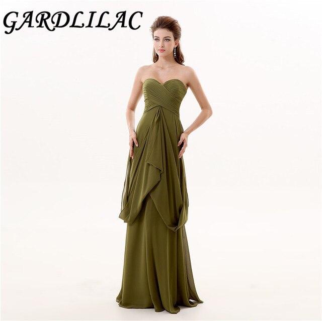 Olive Floor Length Dresses