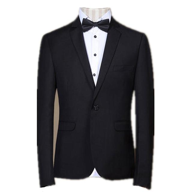 2016 Custom Made moda smoking preto ternos dos noivos casamento ternos festa Formal Blazers + calça + colete
