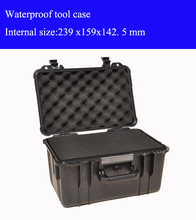 239 x159x142 5mm ABS Tool case toolbox Impact resistant sealed waterproof safety case equipment camera case