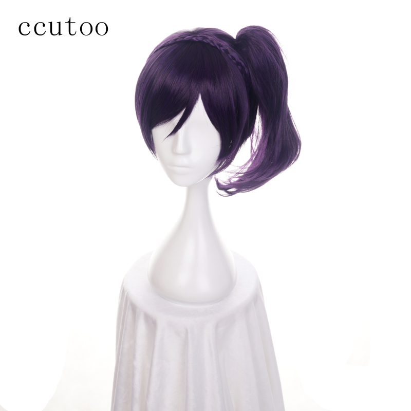 Synthetic Wigs Ccutoo 12 Lol Riven Silver White Short Synthetic Wig Cosplay Costume Wig With Chip Ponytail Heat Resistance Fiber Synthetic None-lacewigs