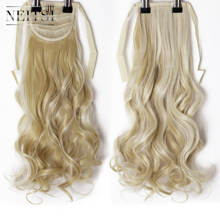 Neitsi Curly Long Clip In Hair Tail False Hair Ponytail Hairpiece With Hairpins Synthetic Hair 27# Beauty & Health Braid Maintenance