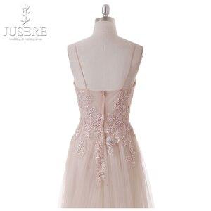 Image 5 - Vestido De fiesta rosa claro, flor princesa Hada, transparente, tirantes finos, lentejuelas, cuentas