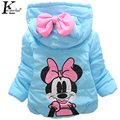 2017 Winter Children Coats Hoodies Baby Clothes Jackets For Girls Warm Fashion Girls Coat Cartoon Kids Costume Clothing For 1-4T