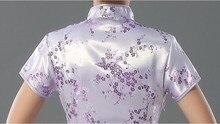 Pink Chinese Traditional Dress Sexy Women Satin Qipao Long Cheongsam Flower Plus Size S M L XL XXL XXXL 4XL 5XL 6XL LG03