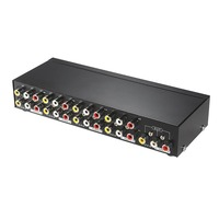 8 Ports 1 High quality Output Splitter Composite 3RCA AV Video Audio Switch Switcher Box Selector 8 In 1 Out