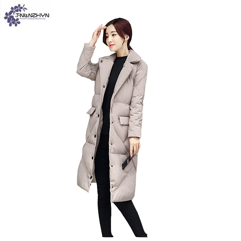 TNLNZHYN winter new Women clothing cotton coat Fashion high-end large yards  Thicken warm Female long ... 5464a6169