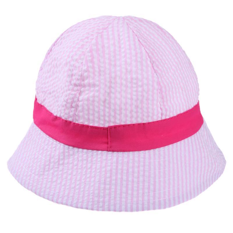 7ebc5bda0 Korean Style Baby Boy Girl Bucket Hat Striped Printing Toddlers Caps with  Chin Strap Spring Children Fashion Fisher Hat