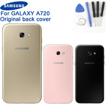 Original Samsung Battery Cover Housing for Galaxy A7 2017 Edition A720 SM-A720 Phone Backshell Back Cases