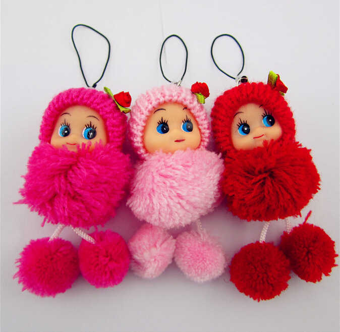 Random 1pcs new 8cm Kids Toys Soft Interactive Baby Dolls Toy Mini Doll For boys and Girls