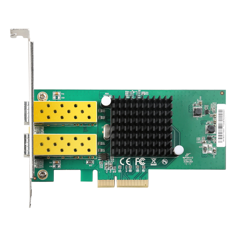 DIEWU New Arrival 2 Port SFP Network Card 1G Fiber Optic Network Card PCIe 4X Server Lan Card With Intel 82576