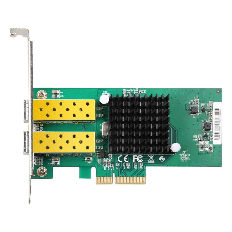 DIEWU nouveauté 2 ports SFP carte réseau 1G fibre optique carte réseau PCIe 4X serveur Lan carte avec Intel 82576