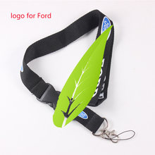 Car Keychain Racing Neck Badge Sports Mobile Phone Holder Strap For Ford Focus 2 3 1 Fiesta Mondeo Fusion MK2 MK4 MK3 KA Mustang(China)