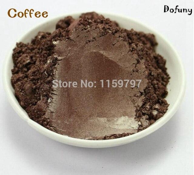 Mica en polvo de Perlas de Color café para Material de sombra de ...
