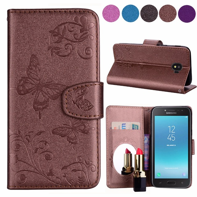 best authentic 8e402 d33d3 US $4.0 20% OFF|For Samsung Galaxy J4 J6 J2 Pro 2018 Mirror Case For  Samsung J6 J4 Butterfly PU Leather Soft TPU Phone Flip Cover J400 J600  J250-in ...