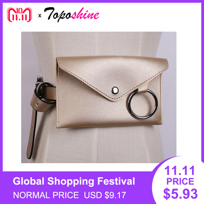 657050a8fae Toposhine Women Waist Packs Fashion Simple Design Women Belt Bags Classic  Trendy Waist Bags Vintage Women Shoulder Bags Gift