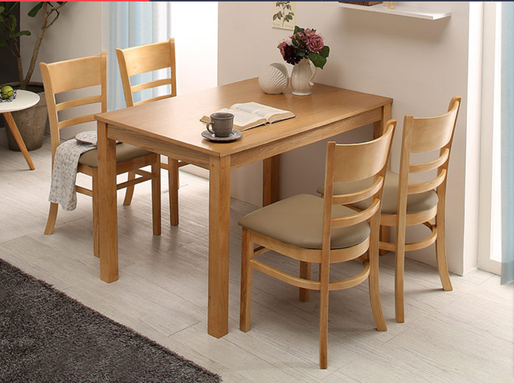 Cheap Four Tables And One Chair Wood Color Oak Dining Table Dinette Nordic  Small Apartment Ikea Dining Table In Dining Chairs From Furniture On ...
