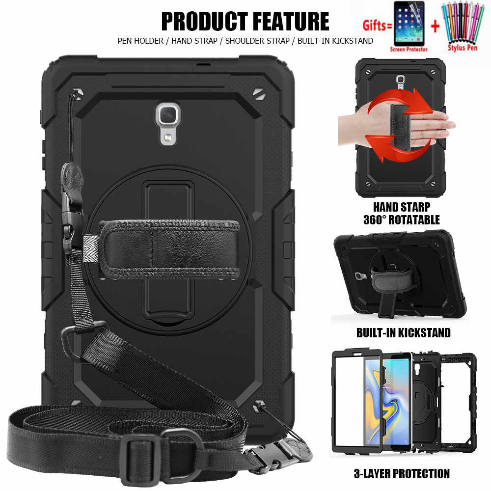 For Samsung Galaxy Tab A 10.5 T590 T595 T597 SM-T590 Tablet case 306 Rotating Hand Strap/Kickstand cover funda + Shoulder Strap