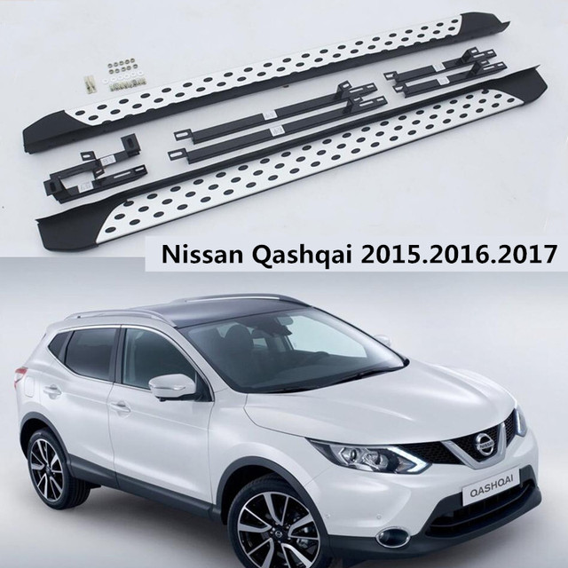 for nissan qashqai car running boards auto side step bar pedals high quality. Black Bedroom Furniture Sets. Home Design Ideas