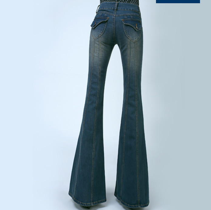 bootcut trousers Picture - More Detailed Picture about Women Plus ...