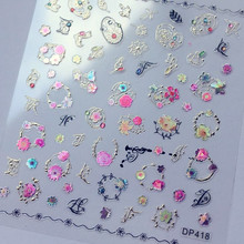 Newest 3d nail art stickers decals DP SERIES Decals Tool DIY Nail Decoration Tools