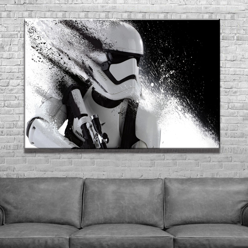 Framework Painting Modern Canvas HD Prints Type Wall Art Pictures Home Decorative 1 Pieces Star Wars Movie Character Poster image