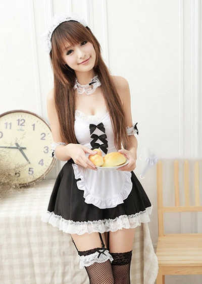 Free Shipping New Sexy Japanese Women Clothes Maid Lolita Uniform